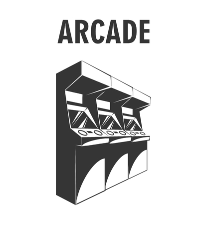 chose: Arcade Machine. The Video Game Room. Vector Illustration