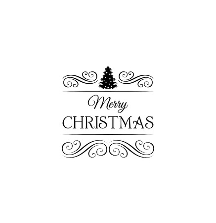 filigree swirl: X-mas Tree. Christmas and New Year. Filigree Swirl Divider. Ornate Frame. Vector greeting card Isolated Illustration