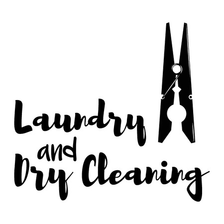 clothespeg: Clothes Clip vector. Laundry and Dry Cleaning