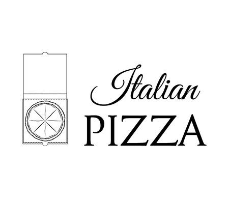 Pizza Box. Pizza Delivery. Traditional Italian Cuisine. Vector Illustration Illustration