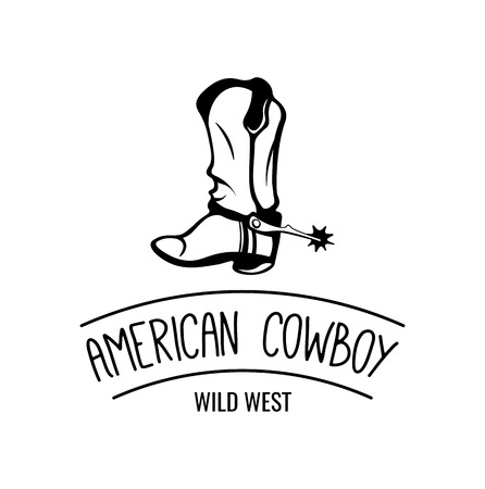 Old Cowboy Boot. Retro Wild West Shoe. Isolated on White Background. Wild West. Western. Vector illustration Stock Vector - 67960376