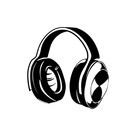 Headphones Isolated on White Background. Vector Illustration