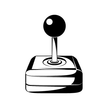 Joystick Computer Video Game. Vector illustration. Isolated On White Background Illustration