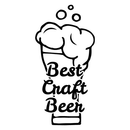Best craft beer. Handmade Typographic Art for Poster Print Greeting Card T shirt apparel design, hand crafted vector illustration.