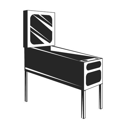 Black and white vector illustration of pinball Illustration
