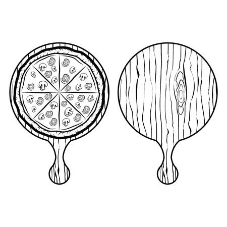 Italian Pizza Label. Badge Pizzeria. Design Elements Illustration. Isolated