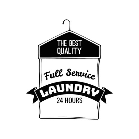 Case For Clothes. Dry Cleaning Label. Laundry Badge. Illustration