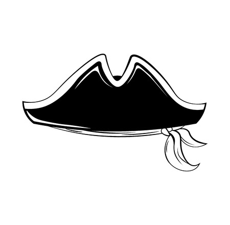 piracy: Pirate hat. Vector illustration isolated on white background