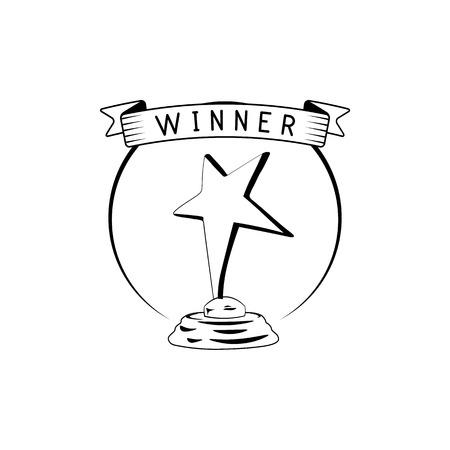 star award icon. vector illustration isolated on white background