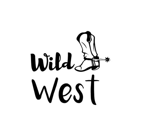 Cowboy boot. wild west design. vector illustration isolated on white