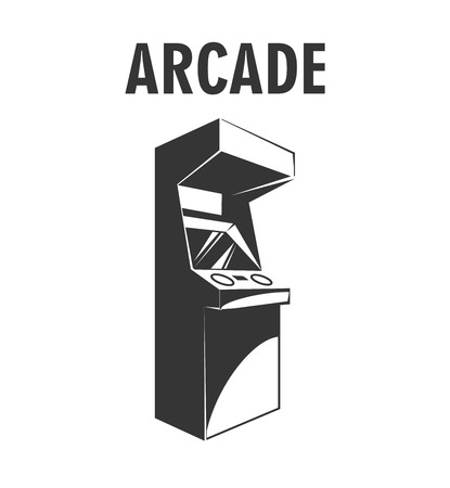 Retro arcade video game machine. Gaming machine icon. Vector illustration
