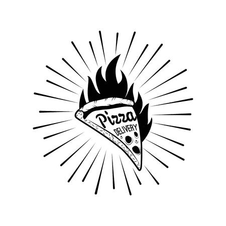 Pizza House. Italian Pizza Label. Badge Pizzeria. Design Elements Vector Illustration. Isolated Illustration