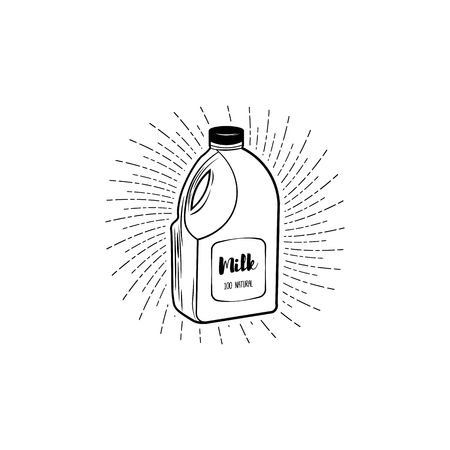 Natural Milk element on white background. Natural product.