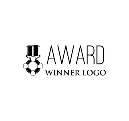 Award icon. High quality black outline logo design and. Vector icon isolated on a white background. Illustration