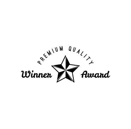 Star award icon. Winner star. Premium quality Vector illustration