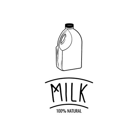 Gallon of milk isolated on white background Vector file.