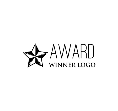Star award icon vector illustration isolated on white background.