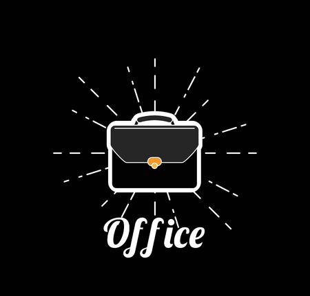 Breifcase isolated. Business card, vector illustration.