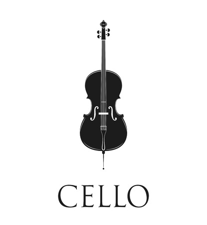 Cello. Isolated On White Background. Vector Illustration Illustration