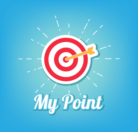 Target and Arrow. My point concept. Vector illustration Illustration