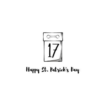 St. Patricks Day. Vector illustration isolated on white background.