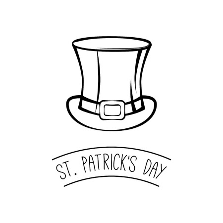 St. Patrick s Day hat vector illustration isolated on white background. Ilustrace