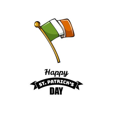 Happy St. Patrick s Day. Irish flag celebration design. St. Patrick s Day poster. Vector illustration