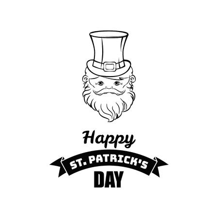 Cartoon Leprechaun St Patricks Day character. Illustration