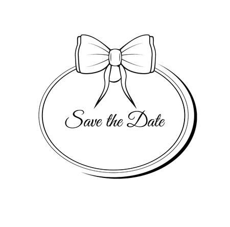 Vektor speichern die Datum verzierten Rahmen . Einfach zu bearbeiten . Perfekt für Hochzeitseinladungen oder Ankündigungen Standard-Bild - 96578717