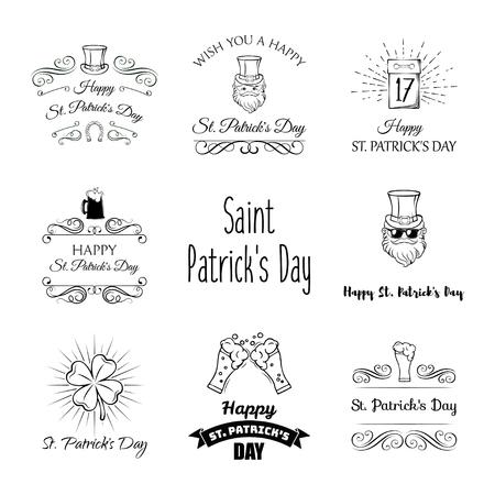 Saint Patricks Day cartoon icon illustration set. Vector illustration isolated on white background. Illustration