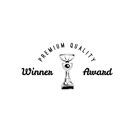 Vector winner cup Icon. Vector illustration isolated on white background. Stock Illustratie