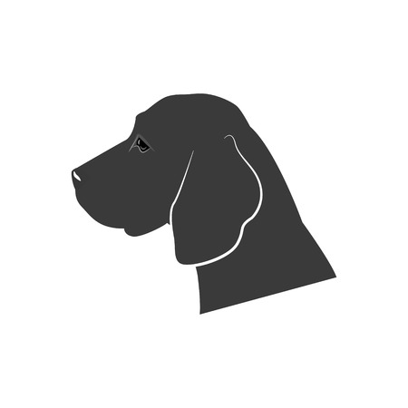 Dogs silhouette icon. Vector illustration isolated on white background. Standard-Bild - 96755955