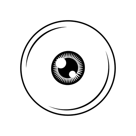 Eye icon in minimal design. Vector illustration isolated on white background. Illustration