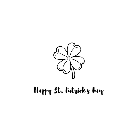 Template design banner on St. Patricks Day. 3d effect clover. Simple banner for the site, shop, magazine promotions. Banner with place for text. Vector illustration. Illustration