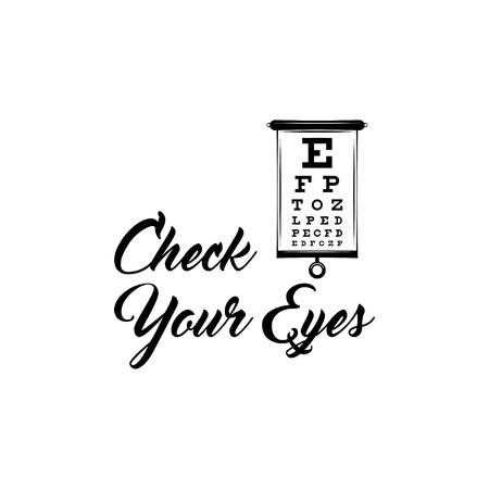 Eye Test Chart. Vector illustration.  イラスト・ベクター素材