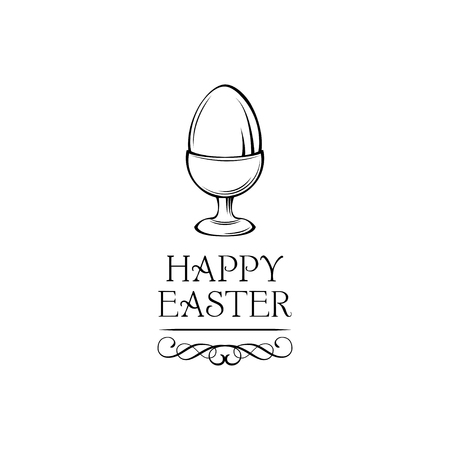 Happy Easter day greeting card with egg holder.