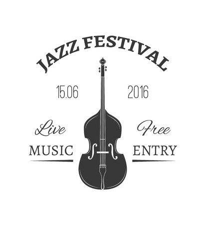 Violin icon with text Jazz Festival