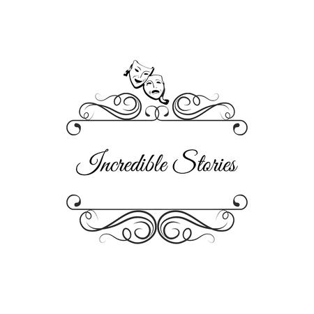 Vintage frame with Incredible Stories text design Ilustração