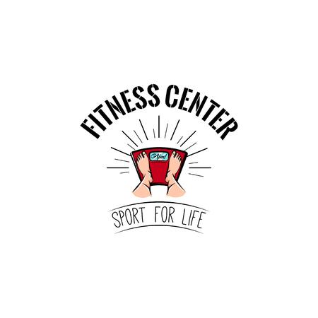 Fitness center label emblem design
