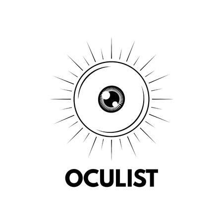 Oculist label emblem Illustration