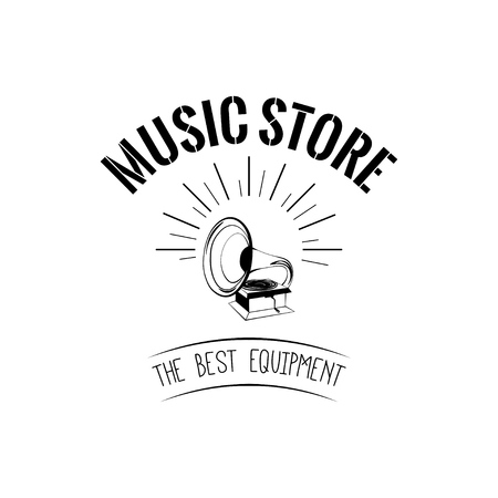 Music store with Gramophone icon