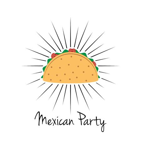 メキシコのパーティーアイコンデザイン