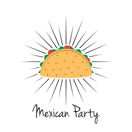 Mexican party icon design
