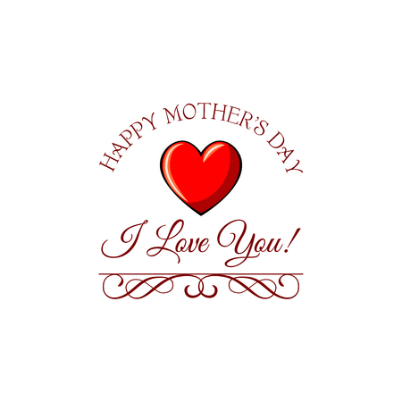 Mothers day template design Illustration