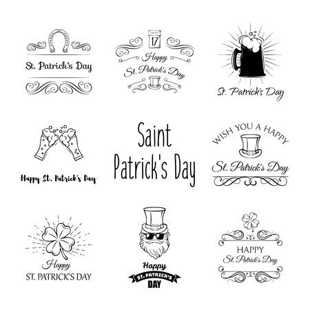 St. Patricks Day template Design set