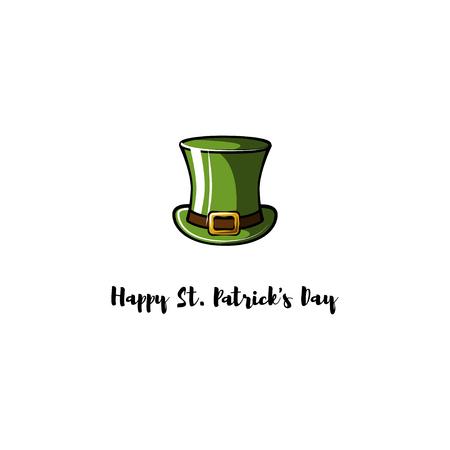 Happy Saint Patrick's day text with leprechaun hat Banque d'images - 97615059