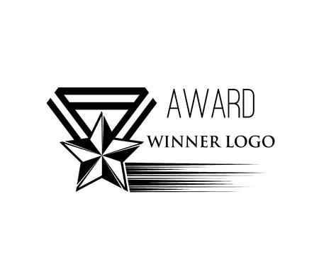 Star shaped medal Winner award icon