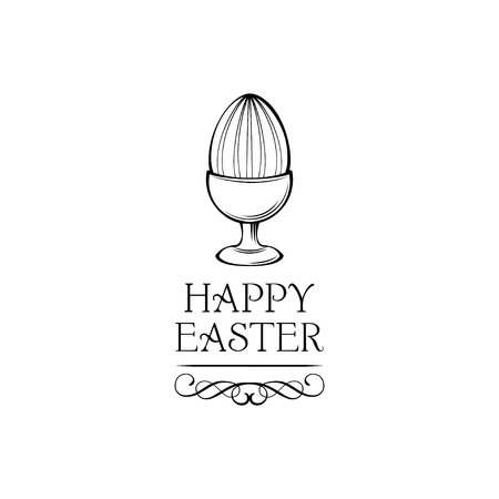 Happy Easter day greeting card design Ilustrace