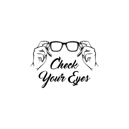 Glasses icon medical care optician creative ophthalmology design vector illustration