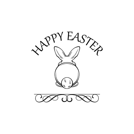 Easter greeting card with cute bunny design.